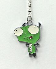 Invader zim GIR necklace silver plated chain 18 inch