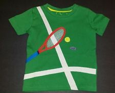Mini Boden boy tennis shirt Size 2-3 years green sports