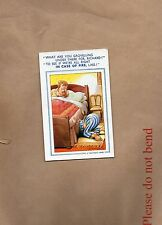 Bamforth Risque comic card No631 Married couple in bed posted 1955  xc1