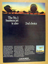 1967 lockheed Dash 8 JetStar business corporate jet airplane vintage print Ad