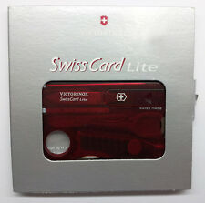 Victorinox Swiss Card Lite - Red Translucent