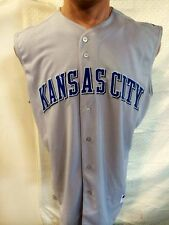 Majestic Authentic MLB Jersey Royals Team Grey Sleeveless sz 54