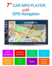 "7"" 2 Din In-dash GPS Navigation Bluetooth Car Stereo MP3 Audio Player FM Radio"