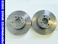 FOR BMW E90 E91 E93  320 d 325 i 420 X1 2.0 FRONT DRILLED & GROOVED BRAKE DISCS