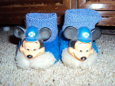 VINTAGE 1970'S MICKEY MOUSE SLIPPERS SZ 2 MICKEY MOUSE CLUB!