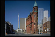 462052 Flat Iron Building And CN Tower A4 Photo Print
