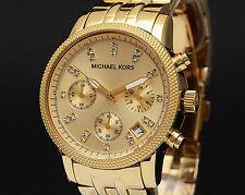 Michael Kors MK5676 Ritz Gold Bracelet Chronograph Womens Ladies Watch RRP £249