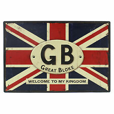 Great Bloke Metal Door Plaque Sign Birthday Gift Ideas for Him & Fathers Day
