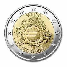 2 Euro Malta 2012 10 Jahre Euro Bargeld