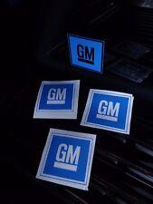 4x gm General Motors Calcomanías Pegatinas Signo De Pared Garaje Tienda de trabajo con el logotipo de ventana de coche