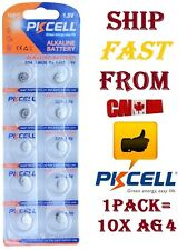 10X PKCELL Alkaline Battery AG4 LR626 SR626SW LR66 377 SR626 Button Cell Coin 10