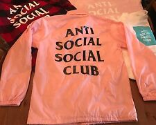 Anti Social Social Club Coach jacket Pink Medium 100% Authentic Brand New