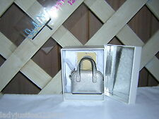 Michael Kors Cindy Key fob  bag charm SILVER, NWT