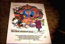 GREAT AMERICAN CHASE ORIG MOVIE POSTER 1979 BUGS BUNNY ROAD RUNNNER PORKY PIG +