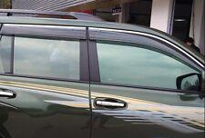 4pcs Door Window Sun Visor Deflectors For LC Prado 150 Fj150 2013 2014 2015 2016