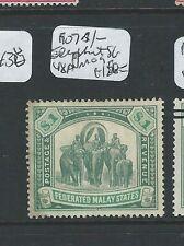 MALAYA FMS (P0910B) 1907 ELEPHANT $1.00  SG 48A  MOG