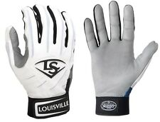 1 pr Louisville Slugger BGS714 Adult Large White / White Series 7 Batting Gloves