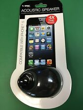 VIBE - SOUND - APPLE - iPHONE - 5 - ACOUSTIC - SPEAKER - BLACK - NEW - iTUNES