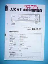 Service Manual-Anleitung für Akai CD-27,CD-37  ,ORIGINAL