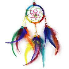Fairtrade Small Circle Dream Catcher Pretty Rainbow Kids / Adults Dreamcatcher