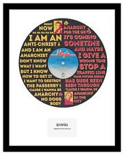 SEX PISTOLS - MEMORABILIA - ANARCHY IN THE UK - Vinyl Record Art - Ideal Gift