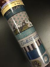 Recollections Dusty Blue with Words Washi Planner Crafting Tape 8 rolls