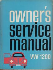 VW BEETLE 1200 & KARMANN GHIA 1200 SALOON CABRIOLET COUPE 1954-63 REPAIR MANUAL