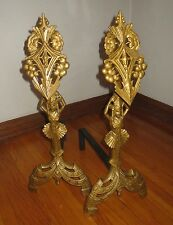 EXOTIC DECO EGYPTIAN REVIVAL GODDESS UNIVERSAL ELECTRIC CHICAGO STAMPED ANDIRONS