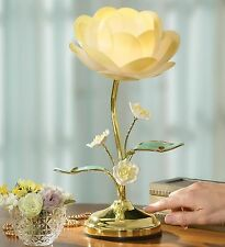 NEW BLOOMING FLOWER TOUCH CONTROL TABLE LAMP BEDROOM LIGHT BRASS COLOR