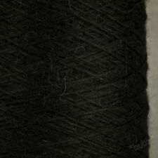 GORGEOUS SOFT 100% PURE BABY ALPACA YARN 250g CONE 5 BALLS BLACK WOOL KNITTING