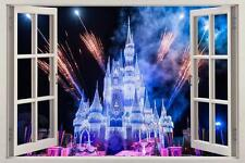 Disney Land Ice Princess Castle 3D Window Wall Decal Home Decor Wall Sticker USA