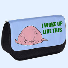 I Woke Up Like This Blob Fish Makeup Bag / Pencil Case, Gift, funny