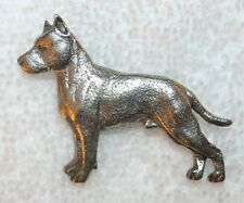 AMSTAFF American Staffordshire Terrier Dog Fine PEWTER PIN Jewelry Art USA Made