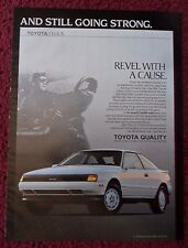1989 Print Ad Toyota Celica GT-S ~ REVEL With A Cause Still Going Strong