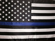 3x5 USA Police Thin Blue Line Flag 3'x5' Memorial Law Enforcement Grommets