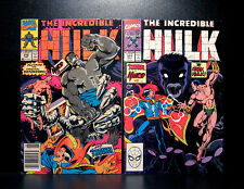 COMICS: Marvel: Incredible Hulk #370-371 (1990s) set - RARE (figure/ironman)