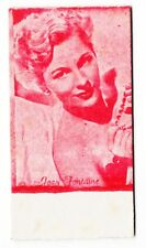 Spanish Weighing Weight Machine Card Calzados Garcera UK Actress Joan Fontaine