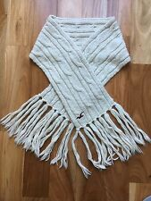HOLLISTER Betty's Cream, Wool, Textured Knit Scarf(New)
