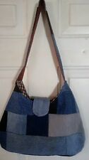 Recycled DENIM Shoulder Bag Reclaimed Blue Jean Purse NEW 111602 HANDMADE