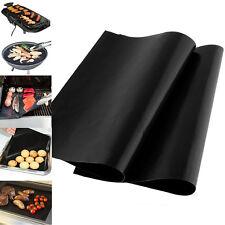 2x 400x330mm Reusable BBQ GRILL MAT Liner Ofen & Backen Beschichteten Kochblatt