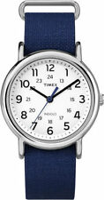 "Timex TW2P65800, Men's ""Weekender"" Blue Fabric Watch, Indiglo, TW2P658009J"