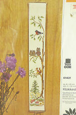 OOE Woodland Forest Counted Cross Stitch Bell Pull Rope Kit~Owls Squirrel NIP