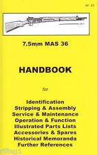 French 7.5mm MAS 36 Rifle Handbook Assembly, Disassembly