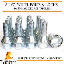 Wheel Bolts & Locks (12+4) 14x1.5 Nuts for VW Beetle RSi VR6 01-03