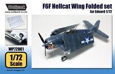 Wolfpack 1:72 F6F Hellcat Wing Folded Set for Eduard Kit - Resin #WP72061