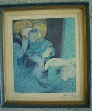 "ALVAR Original Lithograph With Etching ""Blue Flute - S/N"