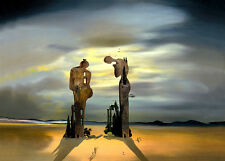 Salvador Dali archeological reminiscence print canvas reproduction giclee 17X12