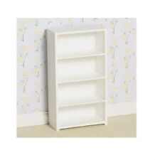 Dolls House Furniture: Modern White Shelving Unit   :   12th scale