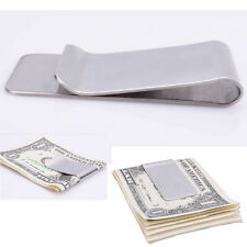 1PC Fashion Slim Money Clip Credit Card Holder Wallet New Stainless Steel