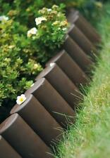 Plastic Garden Fence Panels Boarder Lawn Palisade Edge Patio Fencing BROWN AL5